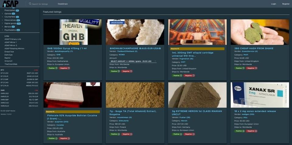 Dark Web drug sales continue to rise